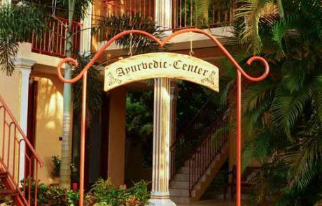 Ayurveda Resort Ayurveda Center Eingangstor Bentota Sri Lanka