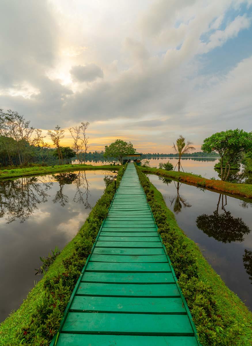 Steg zum Natursee