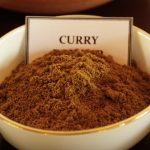 Curry spice in a bowl