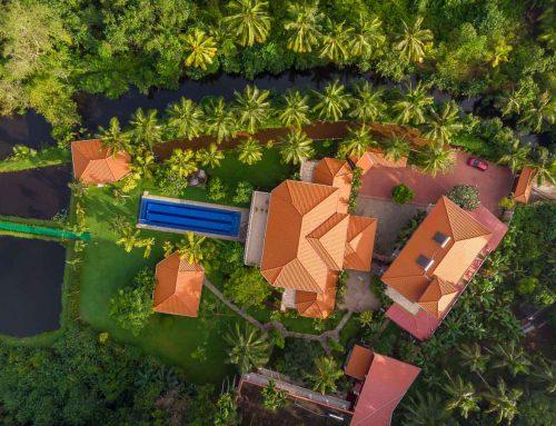 Villa Raphael aus der Vogelperspektive