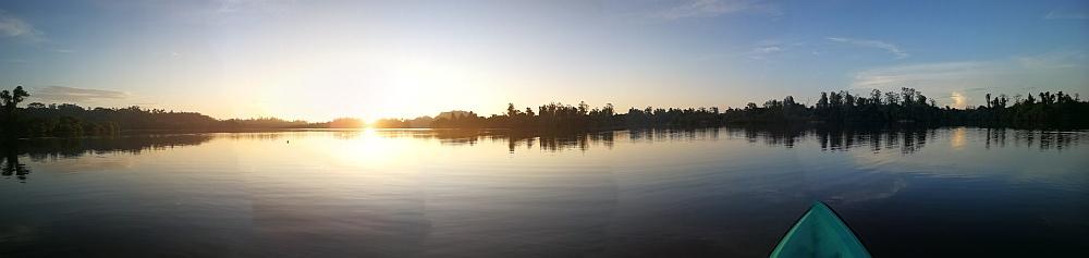 Sri Lanka See mit Sonnenaufgang Panorama
