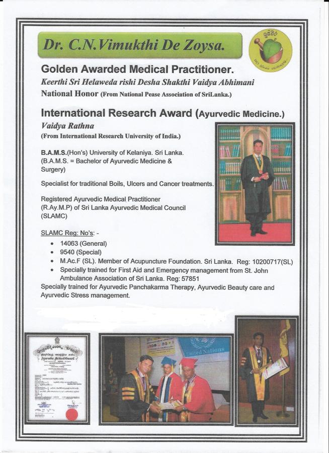 Diplom Golden Awarded Medical Practioner