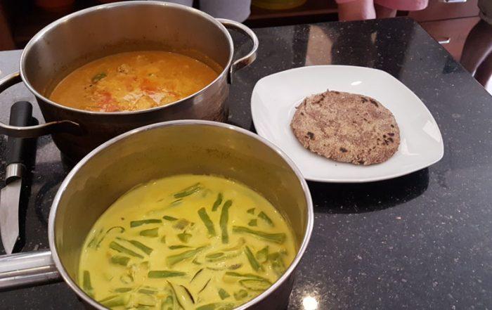 Curries und Rotis der ayurvedischen Küche