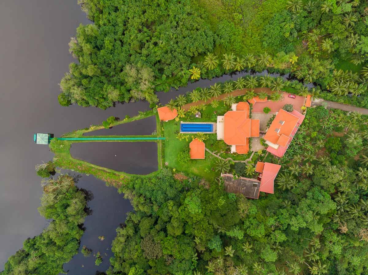 Drohnen-Aufnahme des Resorts