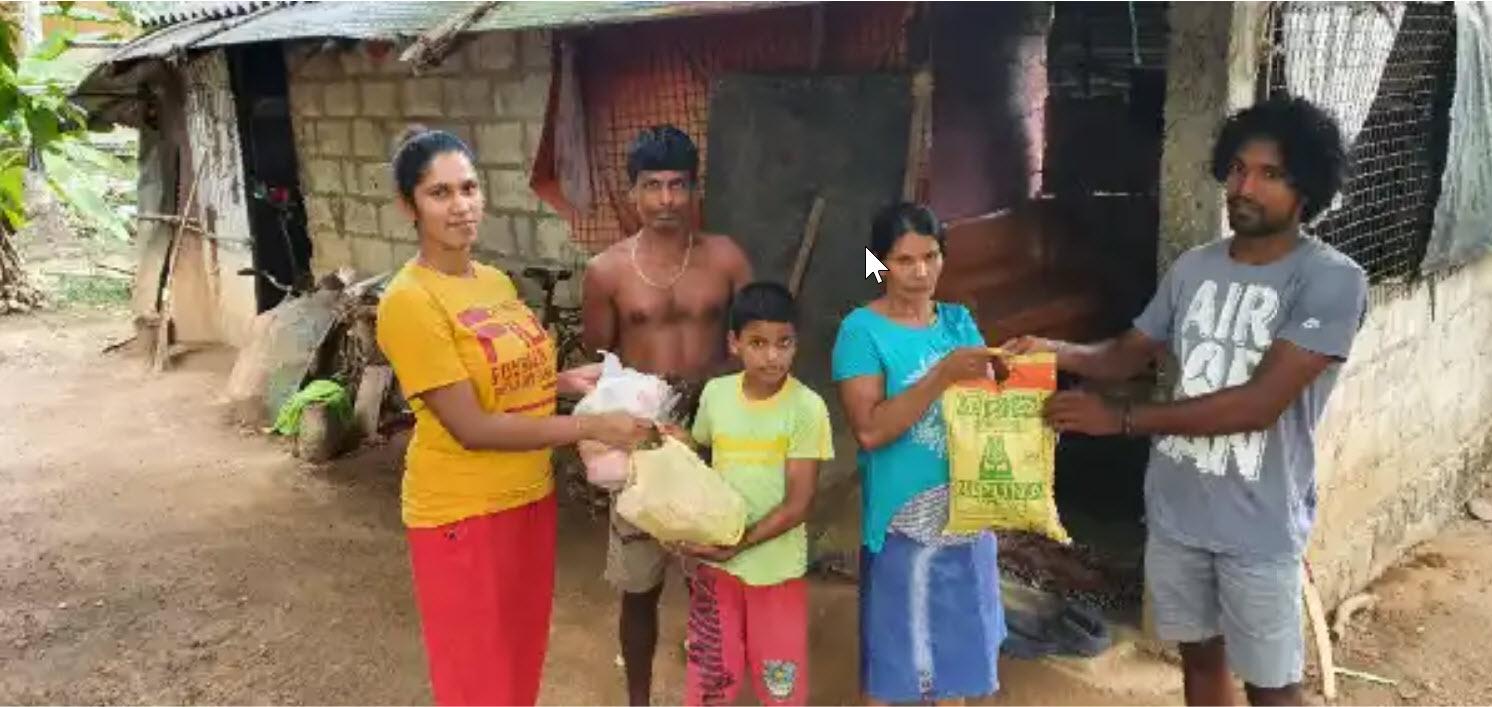 Corona-Not Lebensmittellieferung Sri Lanka